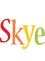 Skye birthday logo