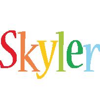Skyler birthday logo