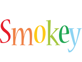 Smokey birthday logo