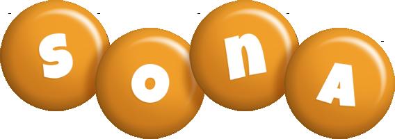 Sona candy-orange logo
