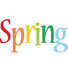 Spring birthday logo