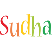 Sudha birthday logo