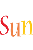 Sun birthday logo