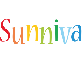 Sunniva birthday logo