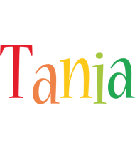 Tania birthday logo