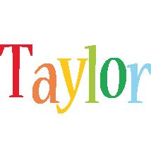 Taylor birthday logo