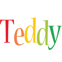 Teddy birthday logo