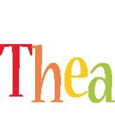 Thea birthday logo