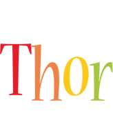 Thor birthday logo