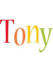 Tony birthday logo