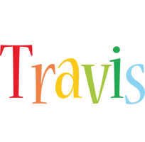 Travis birthday logo