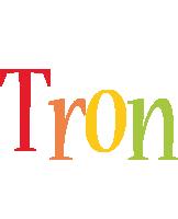 Tron birthday logo