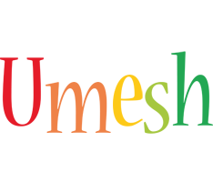 Umesh birthday logo