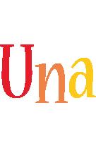 Una birthday logo