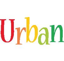 Urban birthday logo