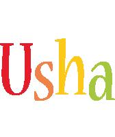 Usha birthday logo