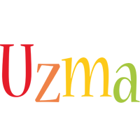 Uzma birthday logo