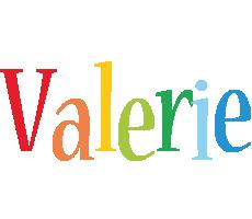 Valerie birthday logo