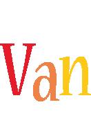 Van birthday logo