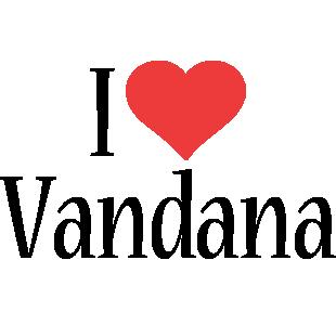 Vandana i-love logo