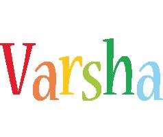 Varsha birthday logo