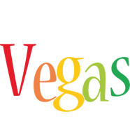 Vegas birthday logo