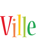 Ville birthday logo