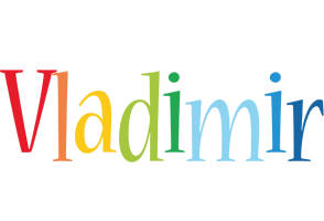Vladimir birthday logo