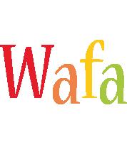 Wafa birthday logo