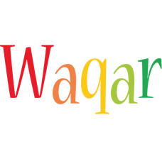 Waqar birthday logo