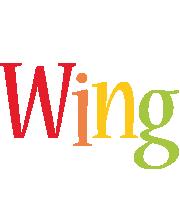 Wing birthday logo