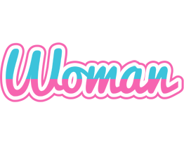 WOMAN logo effect. Colorful text effects in various flavors. Customize your own text here: http://www.textGiraffe.com/logos/woman/