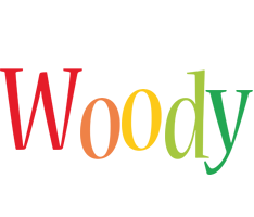 Woody birthday logo