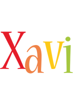 Xavi birthday logo