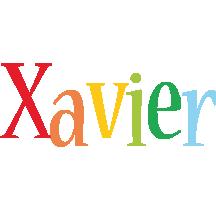 Xavier birthday logo
