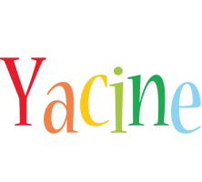 Yacine birthday logo