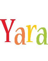 Yara birthday logo