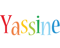 Yassine birthday logo