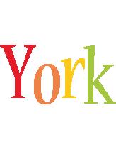 York birthday logo