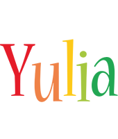 Yulia birthday logo
