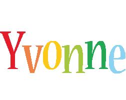 Yvonne birthday logo