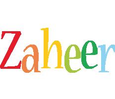Zaheer birthday logo