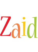 Zaid birthday logo