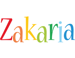 Zakaria birthday logo