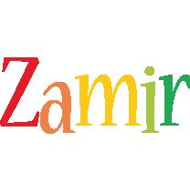 Zamir birthday logo