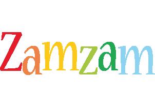 Zamzam birthday logo