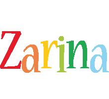 Zarina birthday logo