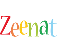 Zeenat birthday logo