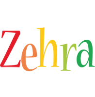 Zehra birthday logo