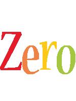 Zero birthday logo